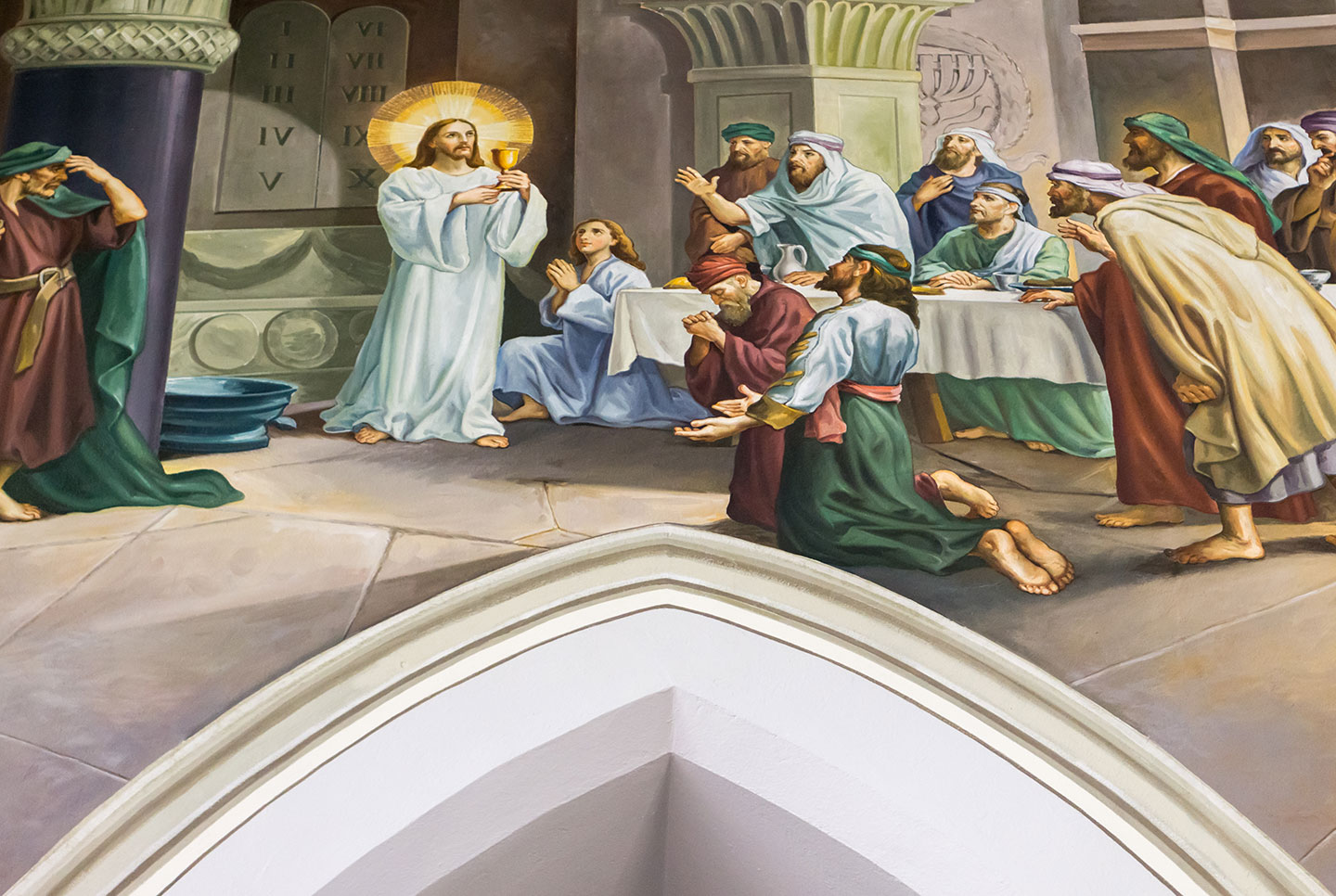 Our Lady Immaculate Basilica - Large mural