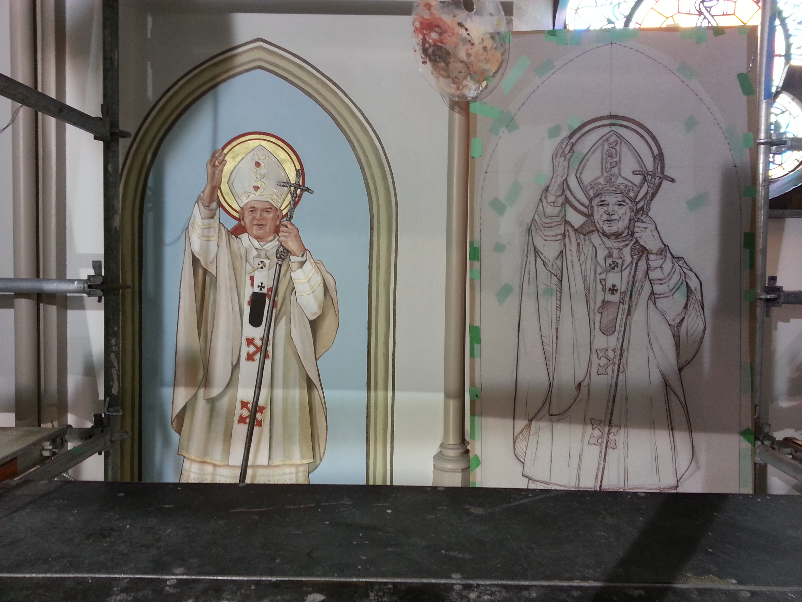 FPDR paint and design of St. John Paul II