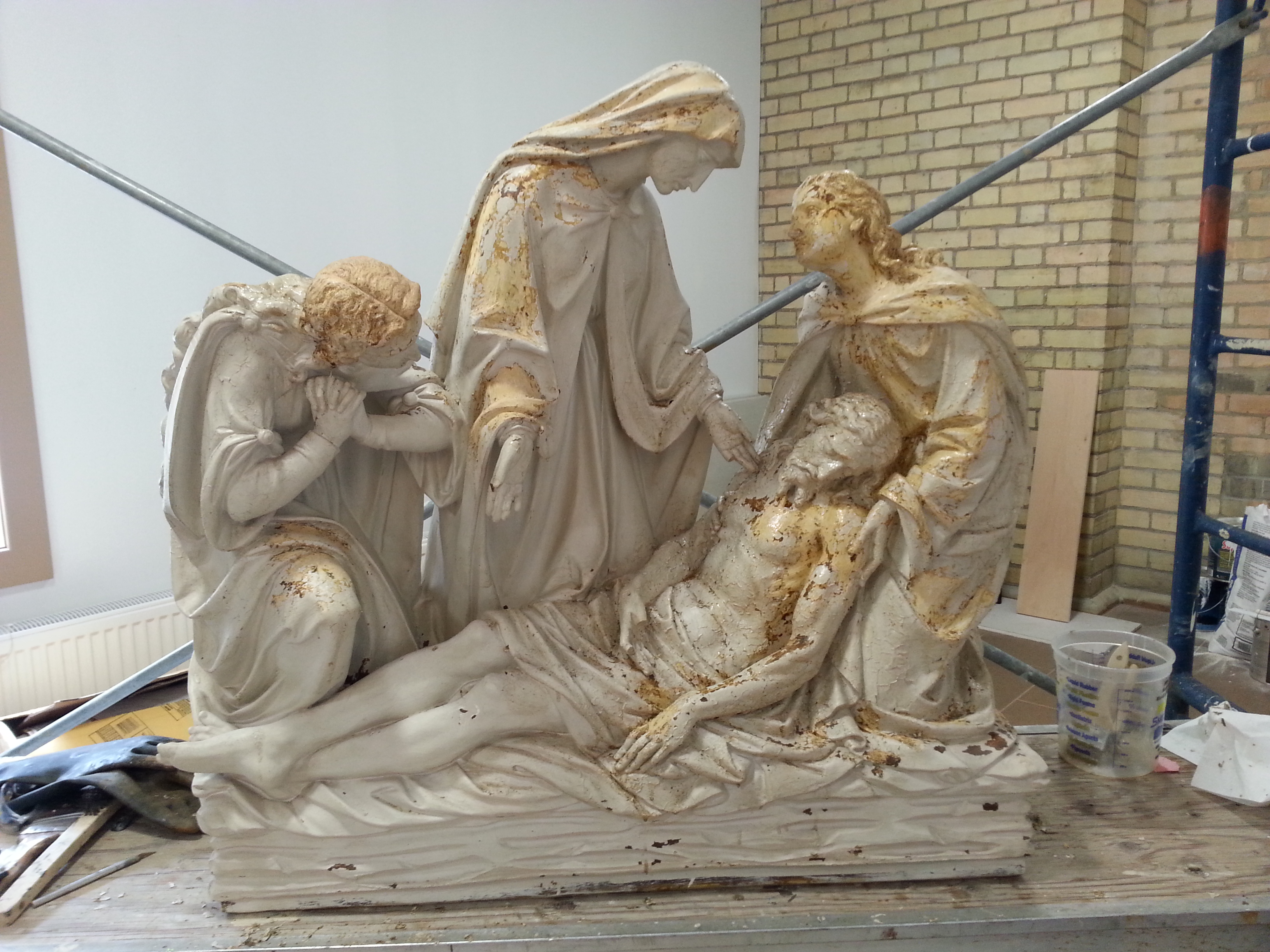 FPDR station of the cross restoration in the works