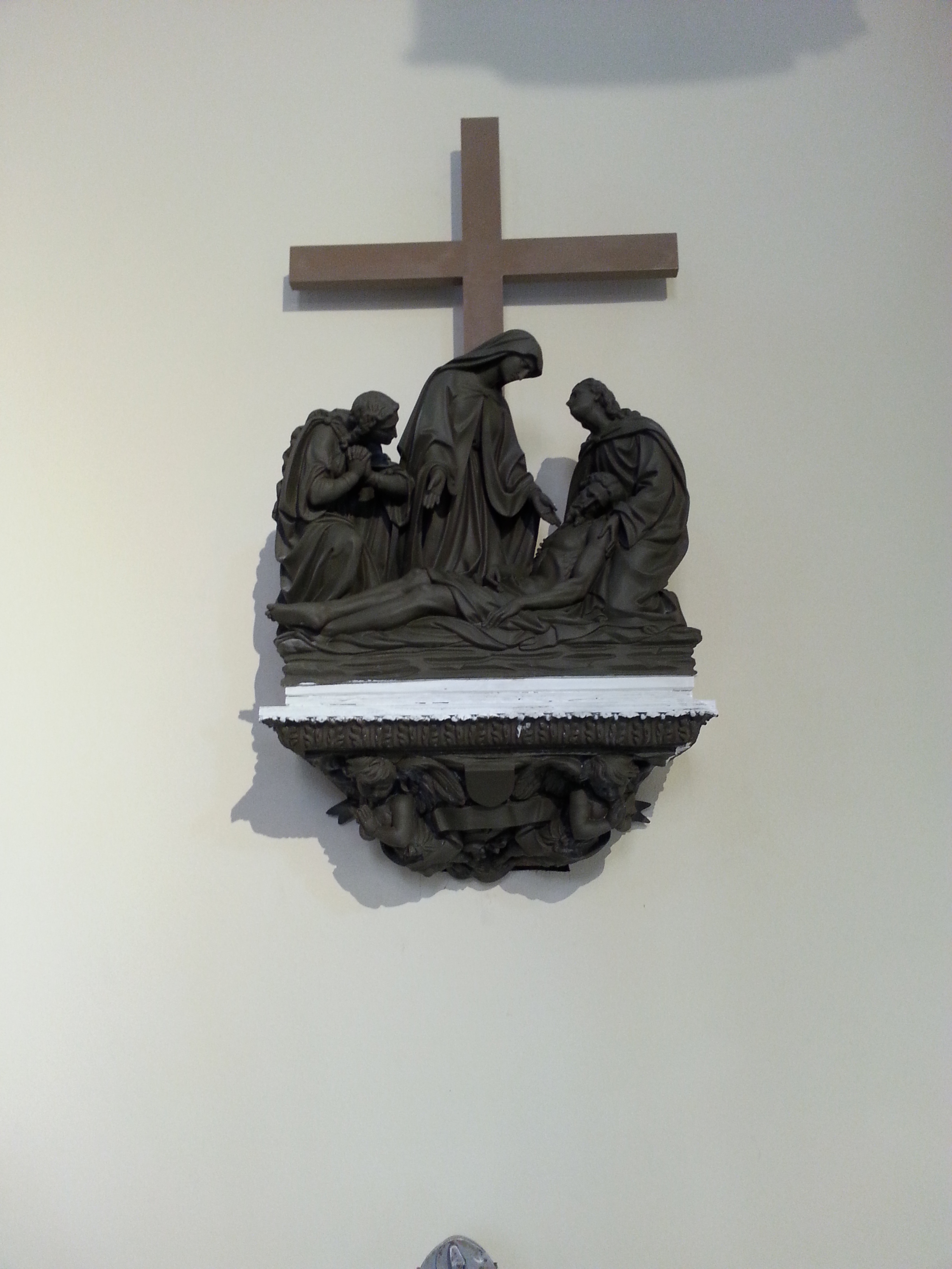 FPDR station of the cross mounted on to a wall