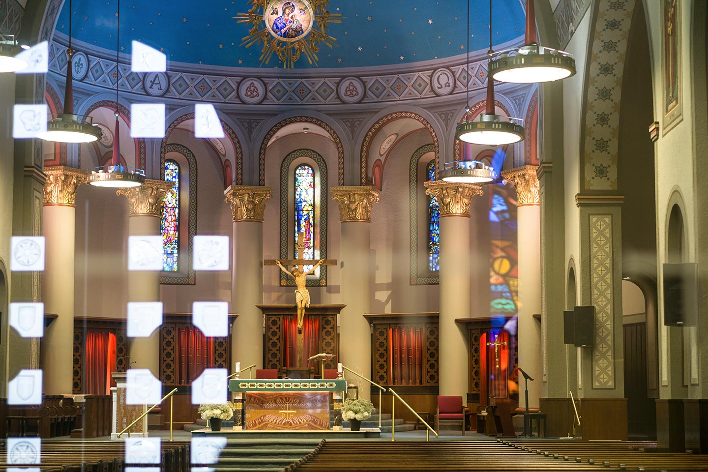 Our Lady of Perpetual Help - Reflections from the entrance