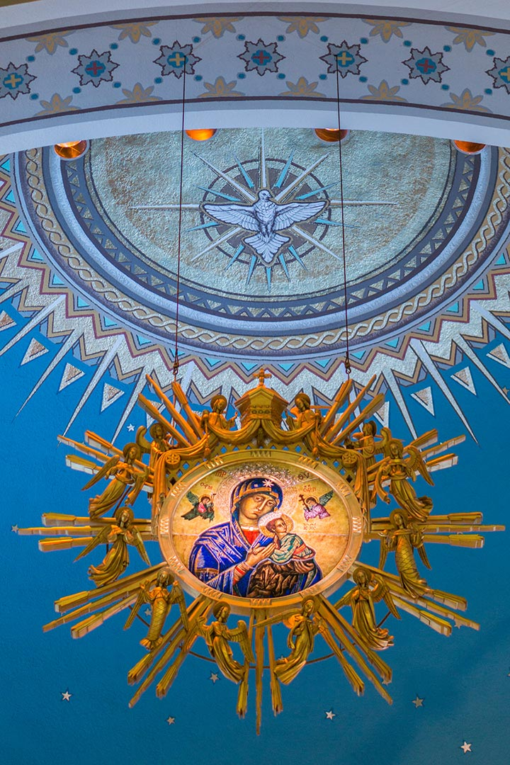 Our Lady of Perpetual Help - Icon above the altar